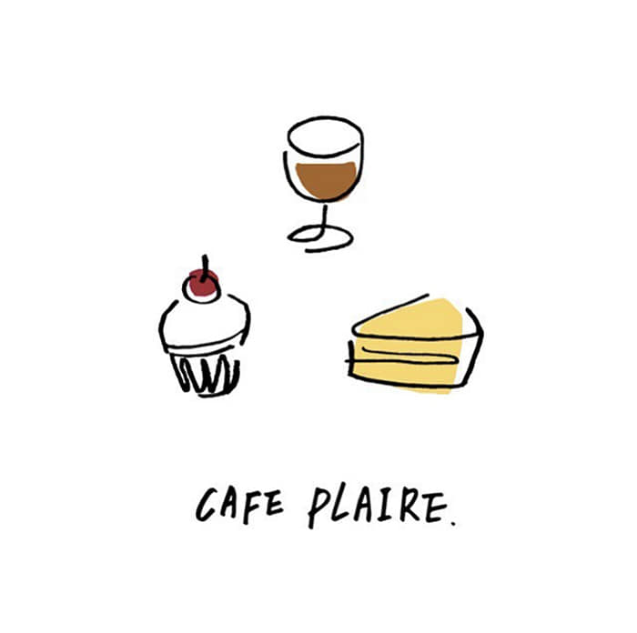 cafe plaire Logo design