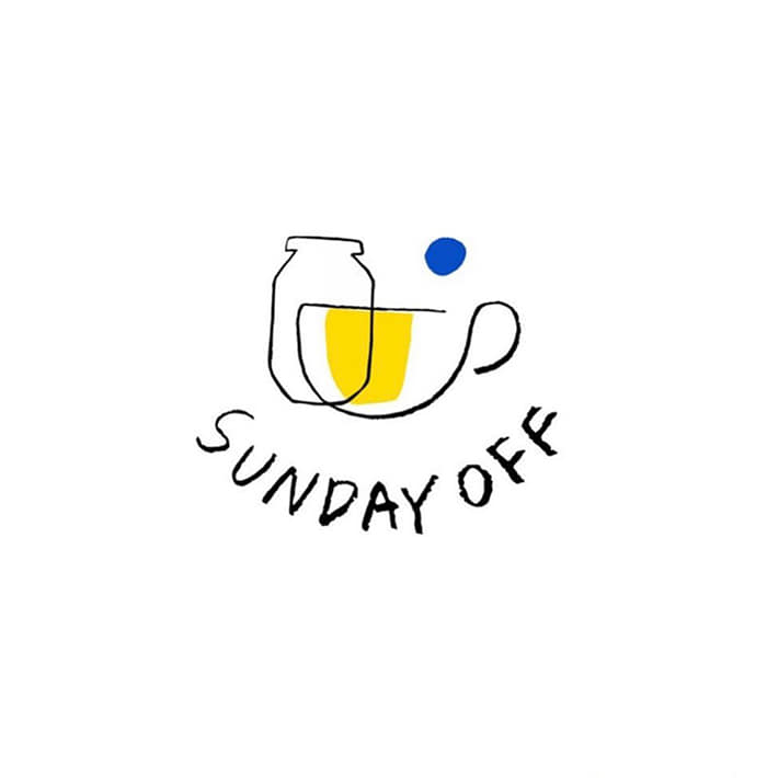 cafe sundayoff Logo design